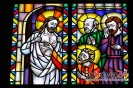 Witraż w kościele pw. Wszystkich Świętych w Bobowej