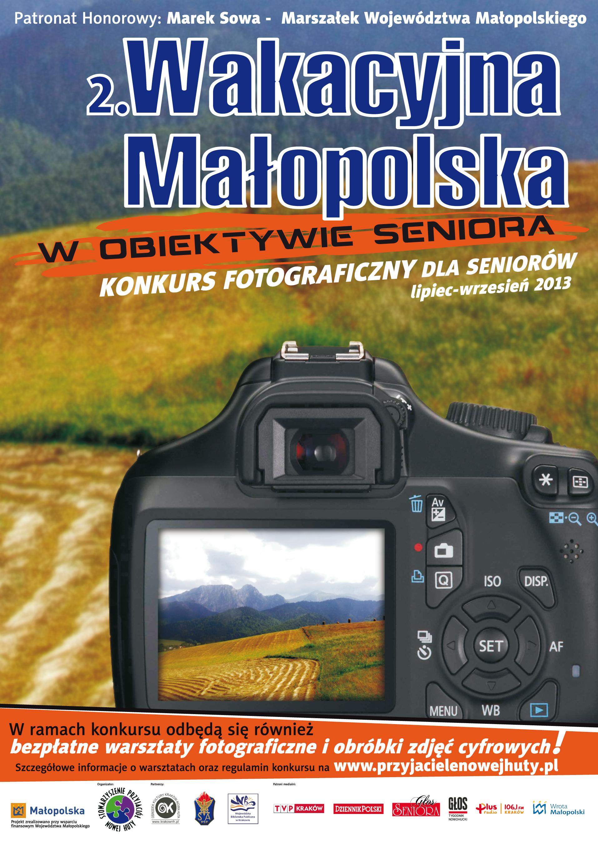 2. Wakacyjna Małopolska w obiektywie seniora - plakat