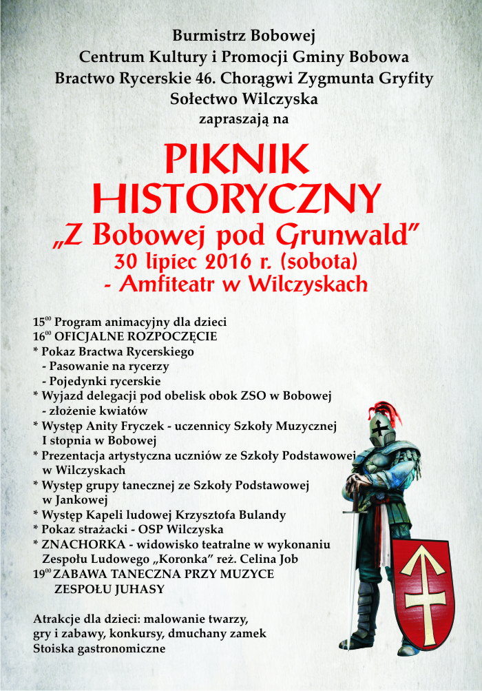 plakat piknik historyczny 2016.