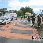 Zderzenie dwóch pojazdów w Jankowej (gmina Bobowa)