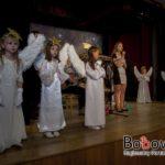 Spotkanie opłatkowe przedszkola w Bobowej zorganziowane w sali Koronka