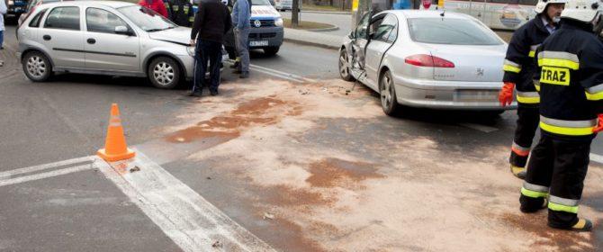 Bobowa: zderzenie pojazdów na ul. Węgierskiej. Utrudnienia na DW nr 981