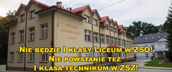INTERWENCJA: cicha degradacja bobowskich szkół średnich!