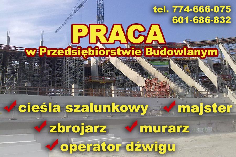 Praca dla cieśli, zbrojarza, murarza. OK Polska nabór.