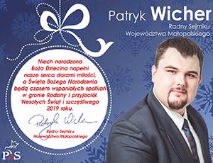 Patryk Wicher - radny sejmiku województwa małopolskiego
