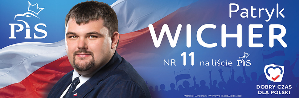 Patryk Wicher kandydat do Sejmu PIS