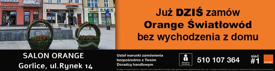 Światłowód Orange Stróżna Gmina Bobowa