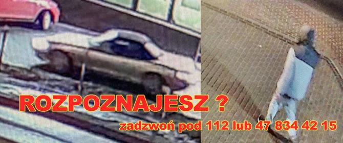 Bobowa: zuchwała kradzież samochodu. Mamy zdjęcia złodzieja i samochodu którym przyjechał! Czy ktoś go rozpoznaje?